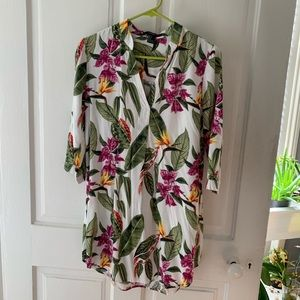 Floral/botanical forever 21 tunic